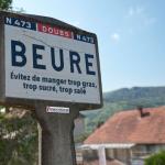 La commune de Beure contrainte d'afficher des messages sanitaires aux entrées du village