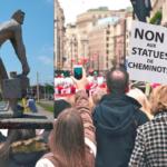 Dijon : importante mobilisation des opposants aux statues de cheminots